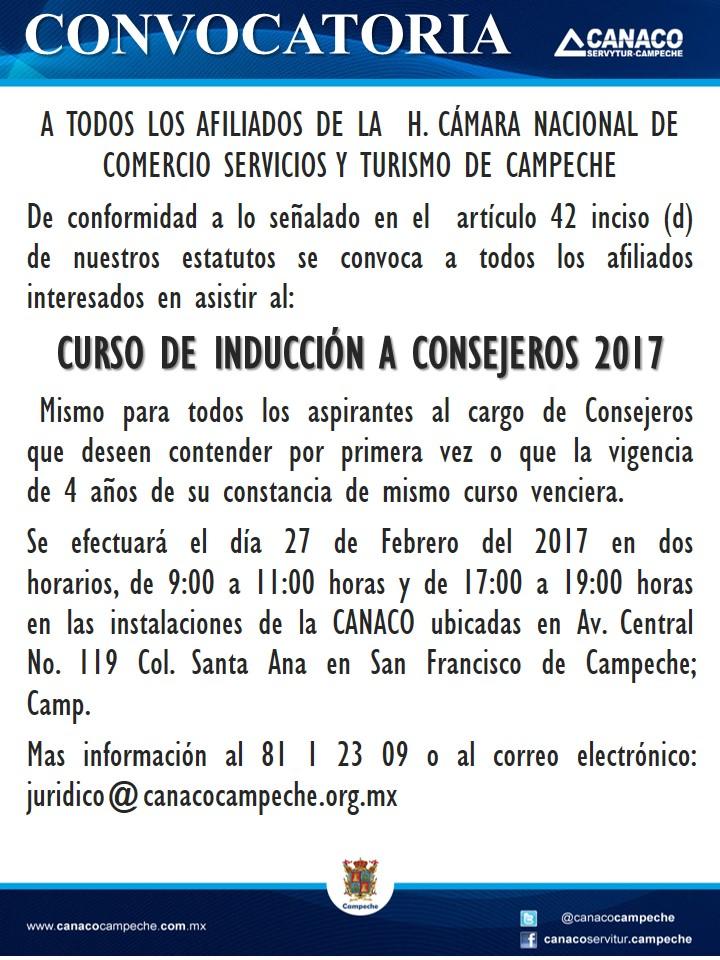 CONVOCATORIA CURSO DE INDUCCION